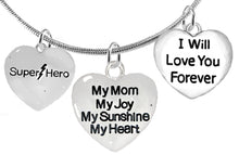 Mom,Super Hero,My Mom, My Joy,I Willl Love You Necklace,No Nickel,Lead,Cadmium 1910-1893-1887N2