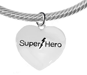 Super Hero Heart, Adjustable Bracelet, No Nickel. Lead, Or Poisonous Cadmium  1910B22