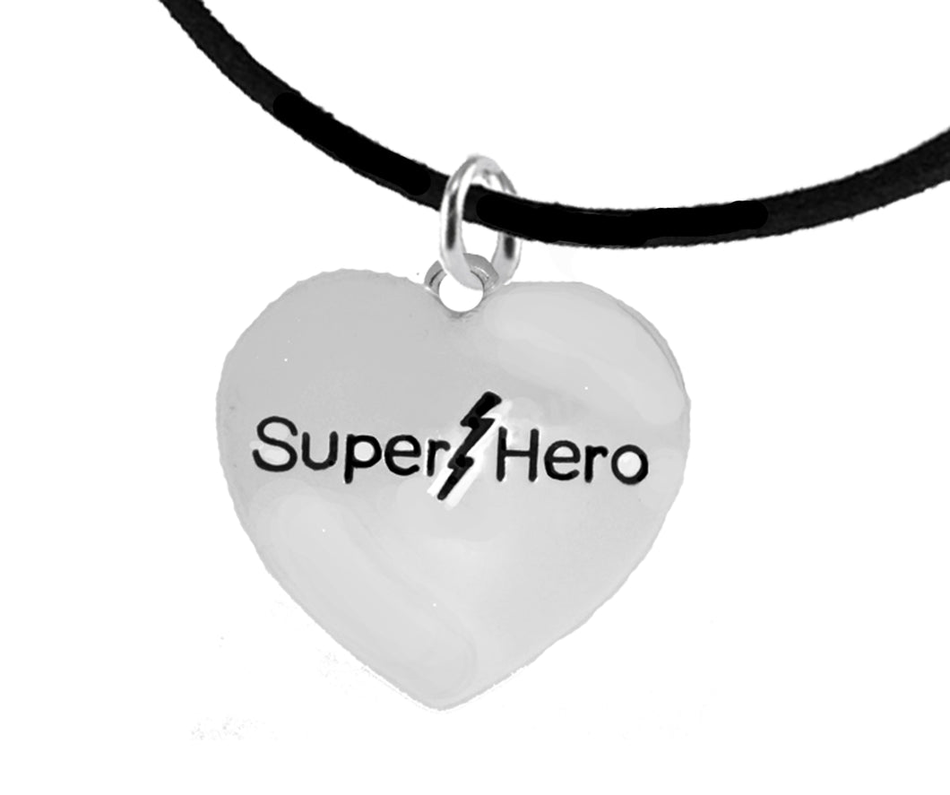 Super Hero, Black Suede Adjustable Bracelet, Hypoallergenic Safe- No Nickel. Lead, Cadmium  1910B3