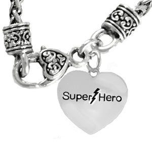 Super Hero Necklace, Hypoallergenic Safe- No Nickel. Lead, Or Poisonous Cadmium  1910N10