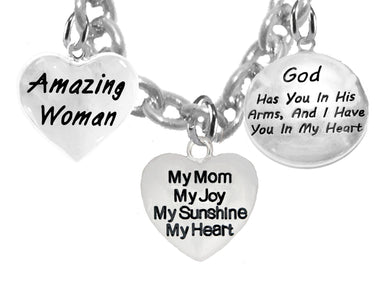 Amazing Woman,My Mom,My Joy,God Has You,Adjustable -Hypoallergenic,-No Nickel,Lead 265-1893-1677N1