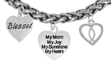 Blessed,My Mom My Joy, Ichthus Fish, Hyperallergenic,No-Nickel, Cadmium, Lead 272-1893-259B18