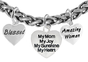 Blessed.My Mom,My Joy,Amazing Women,Hypoallergenic, No Nickel, Lead 272-1893-265B17
