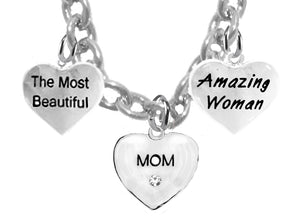 Mom,The Most Beautiful, Amazing Woman Adjustable Hypoallergenic-Nickel,Lead,Free 276-1860-265N1