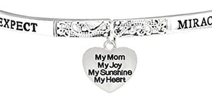 Expect Miracles, My Mom, My Joy, The Original Safe, Nickel & Lead Free Adjustable Stretch Bracelet