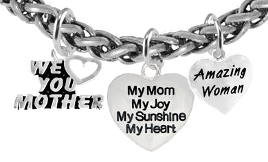 We Love You Mother,.My Mom, My Joy, Amazing Women,Hypoallergenic, No Nickel, Lead 346-1893-571B2