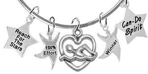 "Swim, ""Reach for The Stars"" 5 Charm Adjustable Bracelet - Safe, Nickel, Lead & Cadmium Free"