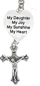 "My ""Daughter"", My Joy, My Sunshine, My Heart & A Crucifix through Father, ""Son"", Holy Ghost Necklace"