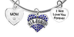 "Mom, I Will Love You Forever, ""Air Force"", Safe - Nickel & Lead Free"