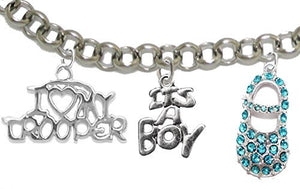 "Trooper's Mom to Be, ""It's A Boy"", Bracelet, Hypoallergenic, Safe - Nickel & Lead Free"