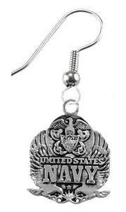 Navy Insignia Earrings, Hypoallergenic, Safe - Nickel & Lead Free
