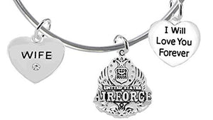 "Wife, I Will Love You Forever, ""Air Force"", Safe - Nickel & Lead Free"