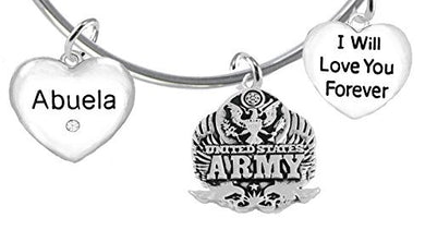 Abuela, I Will Love You Forever, Army Hypoallergenic, Safe - Nickel & Lead Free