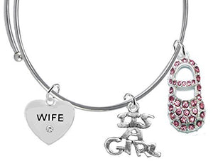 "Baby Shower Gifts, Wife, ""It's A Girl"", Bracelet, Hypoallergenic, Safe - Nickel & Lead Free"