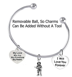 Fire fighter With Axe, My Love, My Joy, My Sunshine, I Will Love You Forever Bracelet