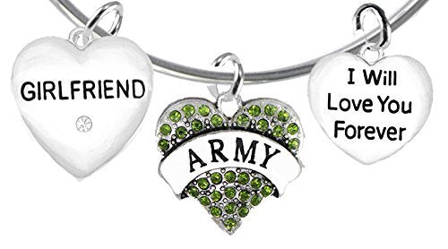 army girlfriend, i will love you forever, safe - nickel & lead free