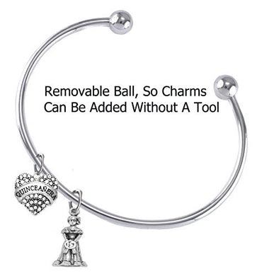 The Perfect Gift Quinceanera Adjustable Removable Ball Ends, Bracelet, Safe - Nickel & Lead Free