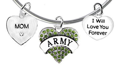 Mom, I Will Love You Forever, Army Hypoallergenic, Safe - Nickel & Lead Free