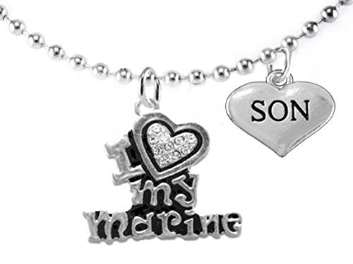 "marine ""son"", children's adjustable necklace, hypoallergenic, safe - nickel & lead free"