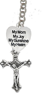 My Mom, My Joy, My Sunshine, My Heart, And A Crucifix, on Holy Trinity Necklace
