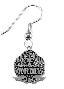Army Insignia Earrings Hypoallergenic, Safe - Nickel & Lead Free