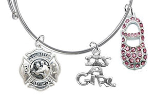 "Volunteer's Fireman's Wife's, ""It's A Girl"", Bracelet, Hypoallergenic, Safe - Nickel & Lead Free"
