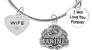 Wife, I Will Love You Forever, Marine Hypoallergenic, Safe - Nickel & Lead Free