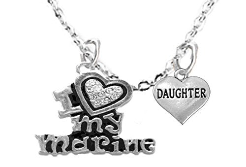 "marine ""daughter"", children's adjustable necklace, hypoallergenic, safe - nickel & lead free"
