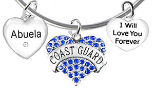 Coast Guard Abuela, I Will Love You Forever, Safe - Nickel & Lead Free