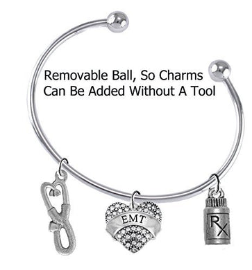 EMT, Add A Charm Bracelet, Hypoallergenic, Safe - Nickel & Lead Free