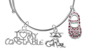 "Constable's Wife's, ""It's A Girl"", Bracelet, Hypoallergenic, Safe - Nickel & Lead Free"