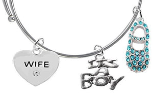 "Baby Shower Gifts, Wife, ""It's A Boy"", Adjustable Bracelet, Safe - Nickel & Lead Free"