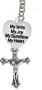 My Wife, My Joy, My Sunshine, My Heart, And A Crucifix, on Holy Trinity Necklace