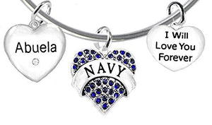 Abuela Navy, I Will Love You Forever, Hypoallergenic, Safe - Nickel & Lead Free