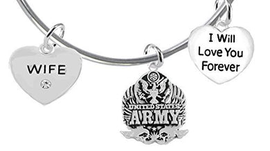 Wife, I Will Love You Forever, Army Hypoallergenic, Safe - Nickel & Lead Free
