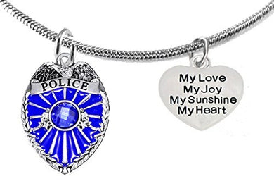 Policeman's, My Love, My Joy, My Sunshine, My Heart, Adjustable Necklace, Safe - Nickel & Lead Free