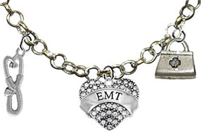 EMT, Adjustable Charm Necklace, Hypoallergenic, Safe - Nickel & Lead Free