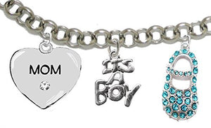"Baby Shower Gifts, Mom to Be, ""It's A Boy"", Bracelet, Hypoallergenic, Safe - Nickel & Lead Free"