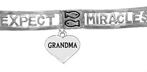 Expect Miracles, Grandma the Original, Safe - Nickel & Lead Free, Adjustable Stretch Bracelet