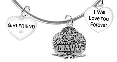 Girlfriend, I Will Love You Forever, Navy, Safe - Nickel & Lead Free