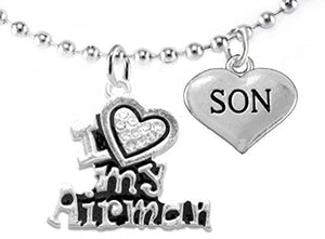 "Air Force ""Son"", Children's Adjustable Necklace, Hypoallergenic, Safe - Nickel & Lead Free"