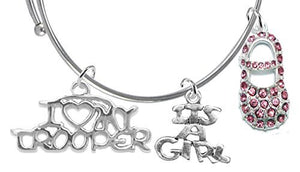 "Trooper's Wife's, ""It's A Girl"", Bracelet, Hypoallergenic, Safe - Nickel & Lead Free"