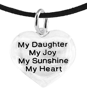 "Message Jewelry, My ""Daughter"", My Joy, My Sunshine, My Heart, Adjustable Necklace - Safe"