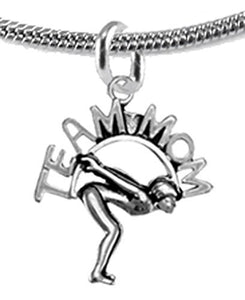 Team Mom Swimming Necklace Adjustable Hypoallergenic, Safe - Nickel, Lead & Cadmium Free!