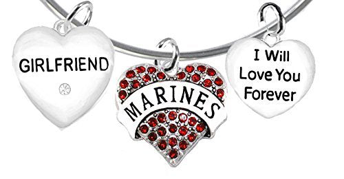 marine girlfriend, i will love you forever, safe - nickel & lead free