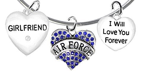 air force girlfriend, i will love you forever, safe - nickel & lead free
