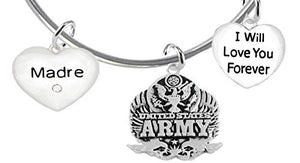 Madre, I Will Love You Forever, Army Hypoallergenic, Safe - Nickel & Lead Free