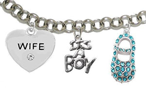 "Baby Shower Gifts, Wife, ""It's A Boy"", Bracelet, Hypoallergenic, Safe - Nickel & Lead Free"