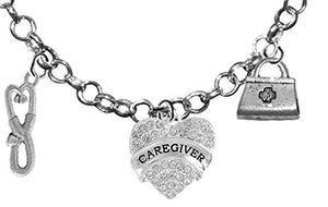 Caregiver, RN, Nurse, Adjustable Charm Necklace, Hypoallergenic, Safe - Nickel & Lead Free
