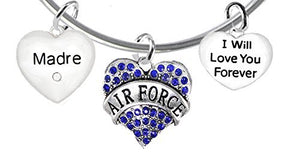 "Air Force Granddaughter"", I Will Love You Forever, Safe - Nickel & Lead Free"